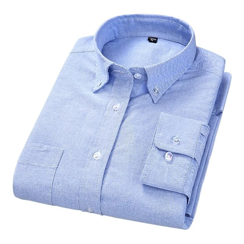 100% Cotton Oxford Long Sleeved Shirt