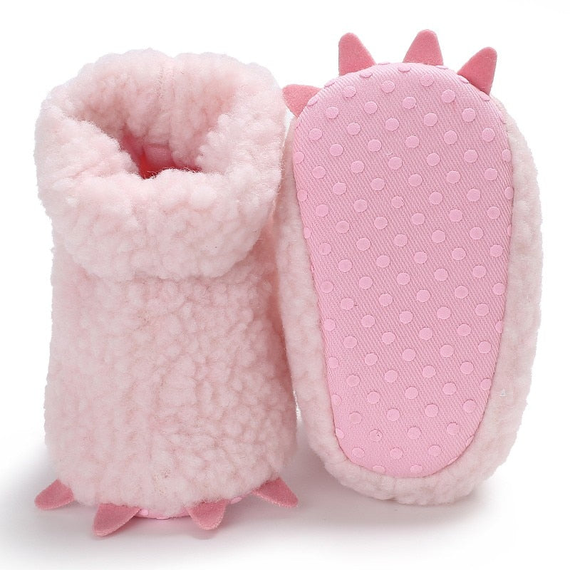Warm Baby Girls Cute Soft Soled Fleece Booty