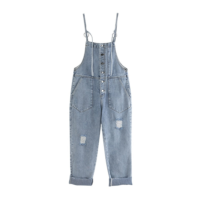 Trendy Denim Jumpsuit