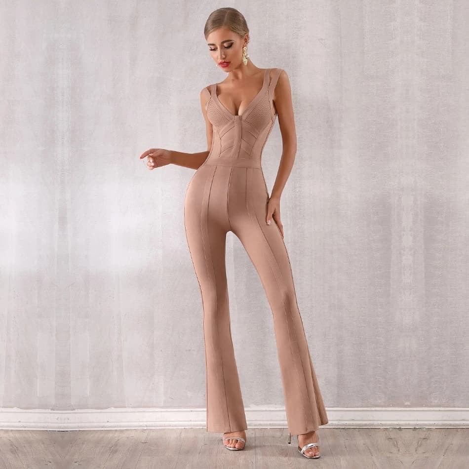 Backless Sleeveless Long Jumpsuit