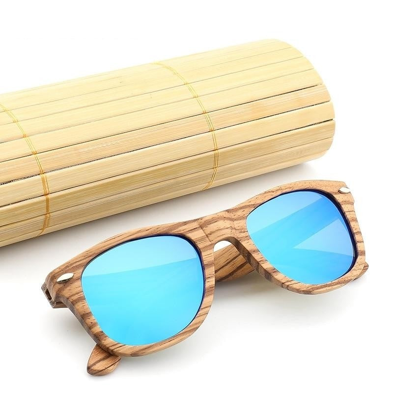 Polarized Bamboo Wood Sunglasses