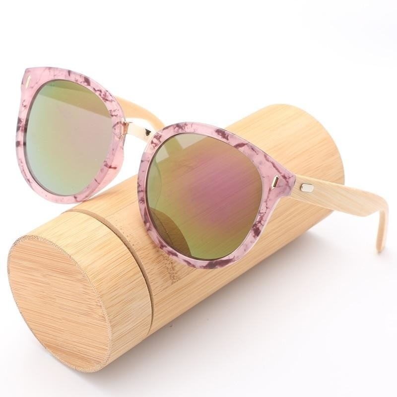 Trendy Bamboo Wood Sunglasses