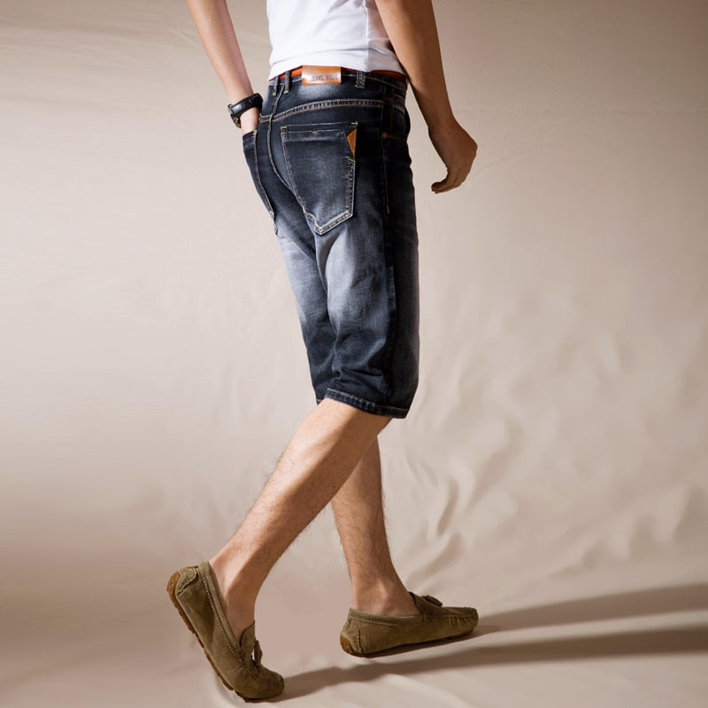 Denim Knee Length Shorts