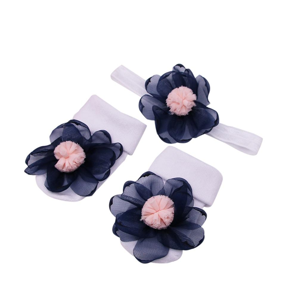 2PCS/SET: Baby Anti-Slip Socks + Headband
