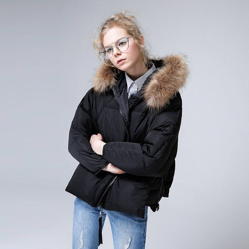 Fur Collar Down Hooded Jacket