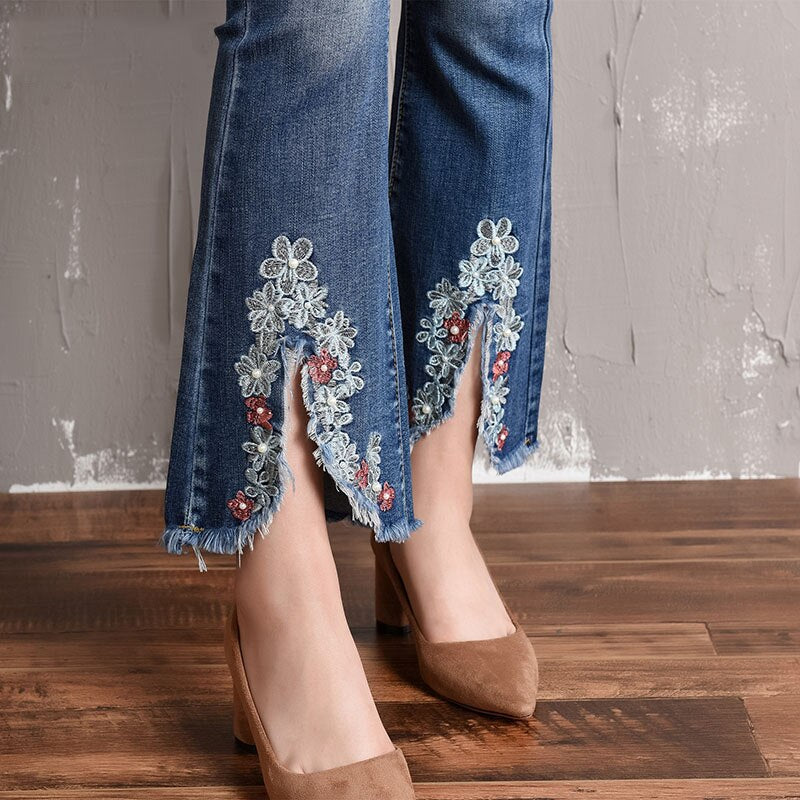 Flare Ankle-Length Jeans