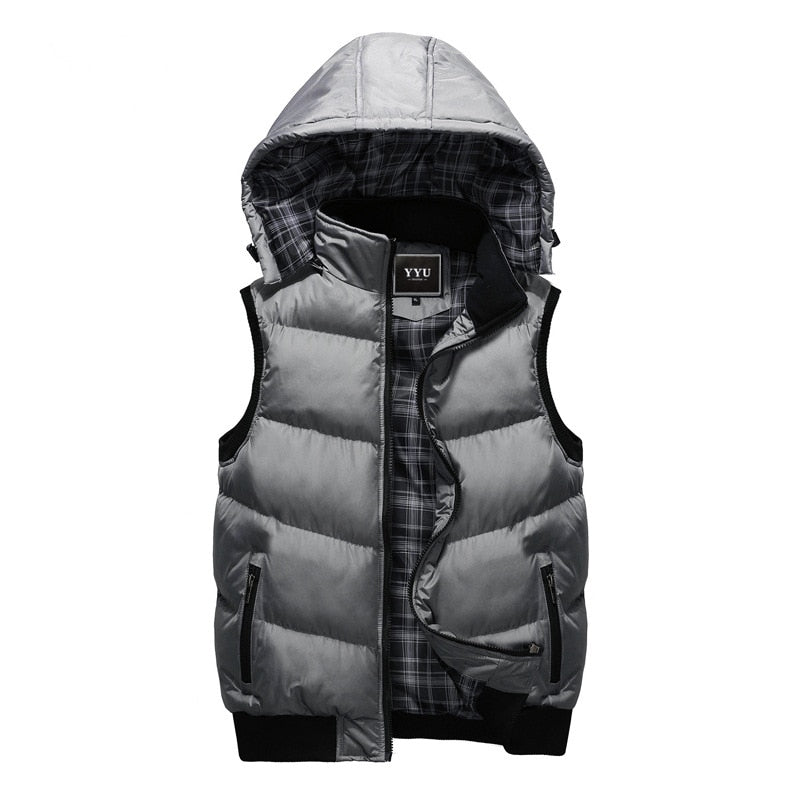 Hooded Warm Sleeveless Jacket