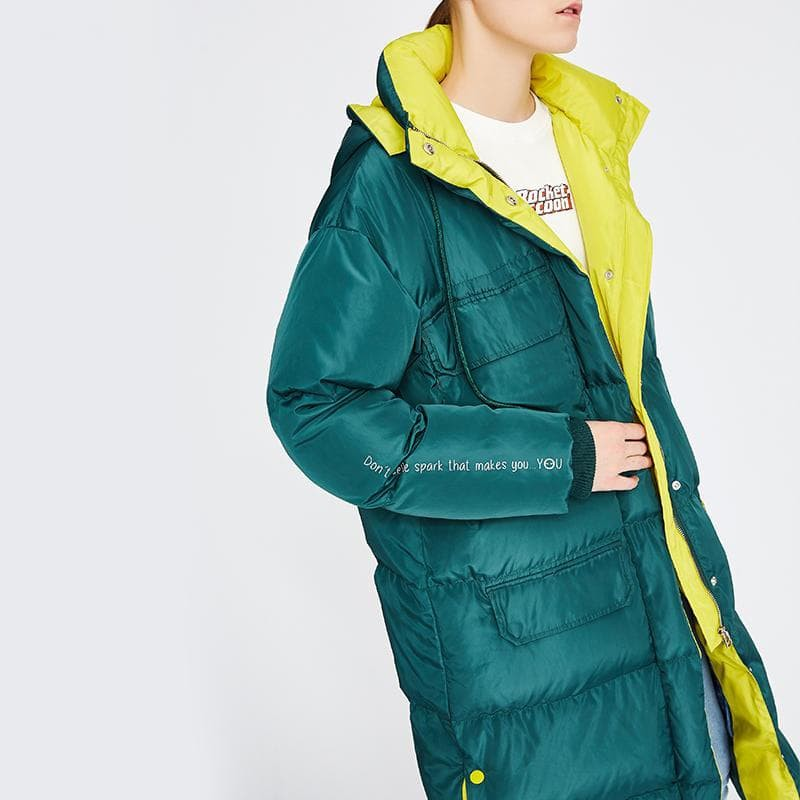 Hooded Long Down Jacket