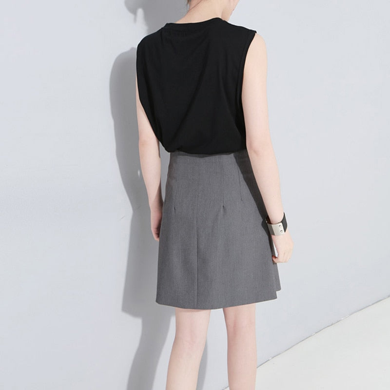 High Waist Half-body Skirt