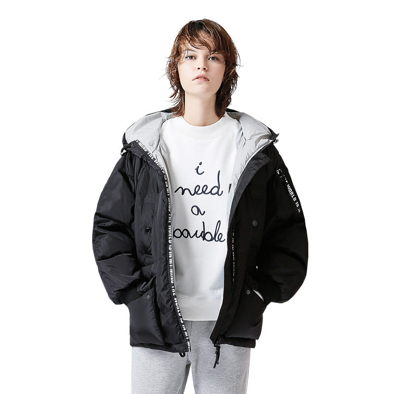 Casual Short Hooded Down Jacket
