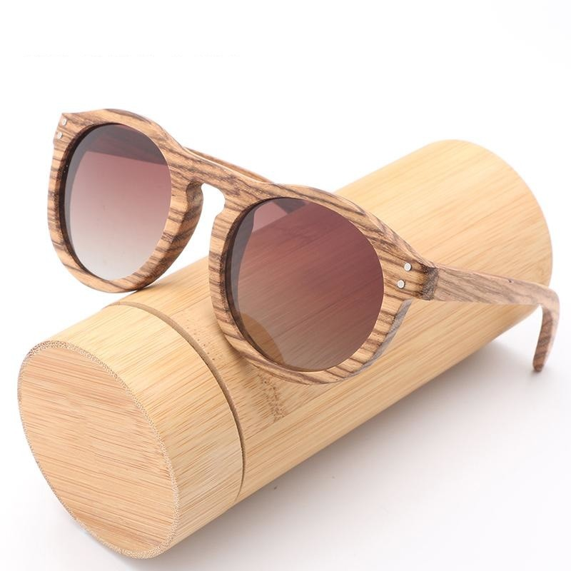 Retro Polarized Bamboo Sunglasses
