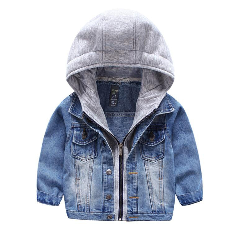 Smart Hooded Denim Jacket