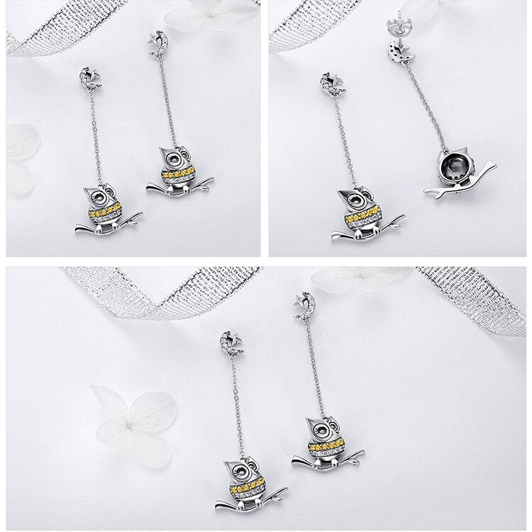 925 Sterling Silver Long Chain Drop Earrings