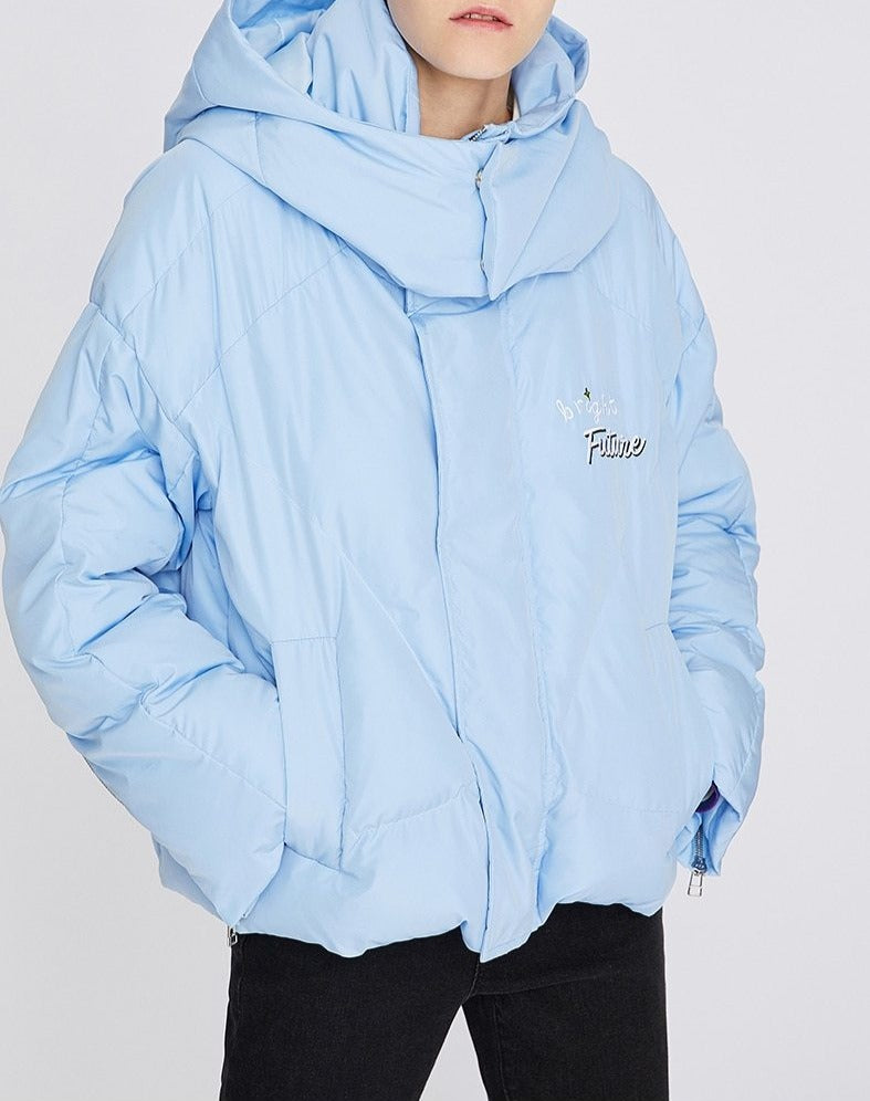 Short Hooded Warm Parkas