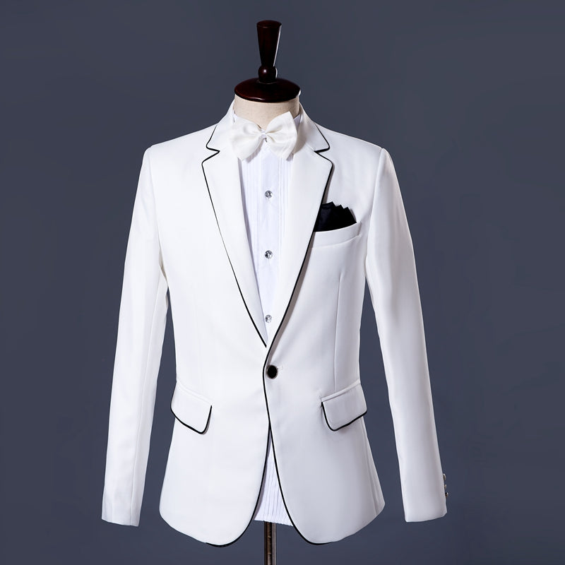 White Tuxedo Wedding Suit