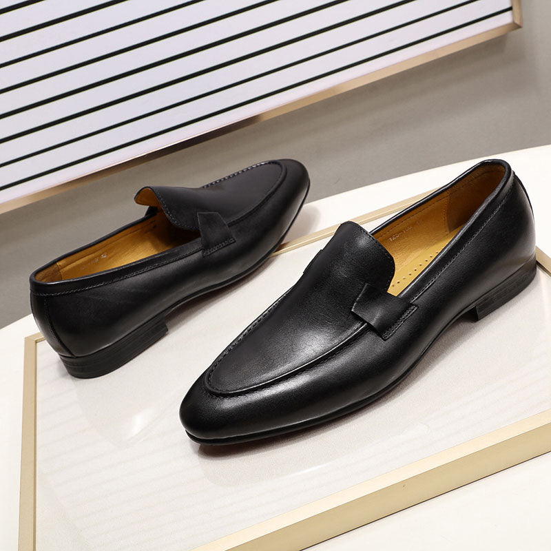 Genuine Leather Hand Painted Dress Shoes