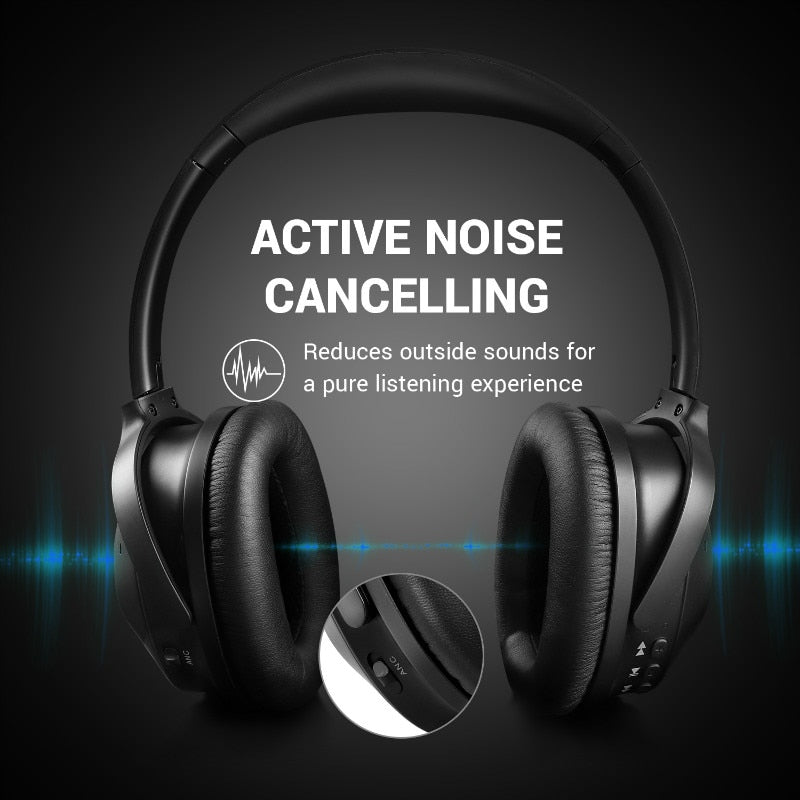 Bluetooth 4.1 Active Noise Cancelling Headphones