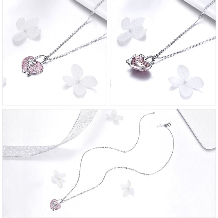 Sterling Silver Bowknot Pendant Necklace