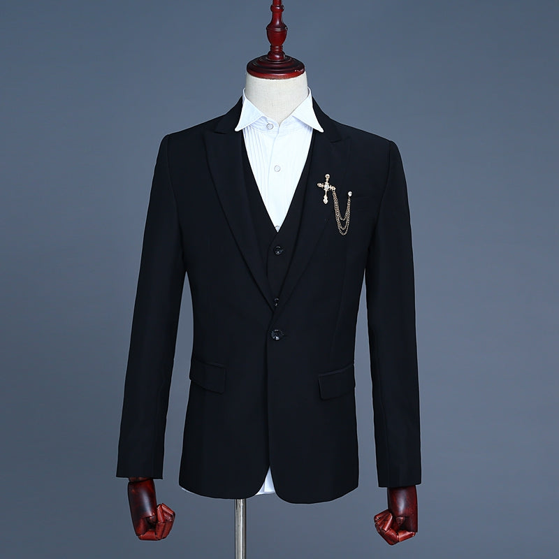 Three-Piece Single Button Suit