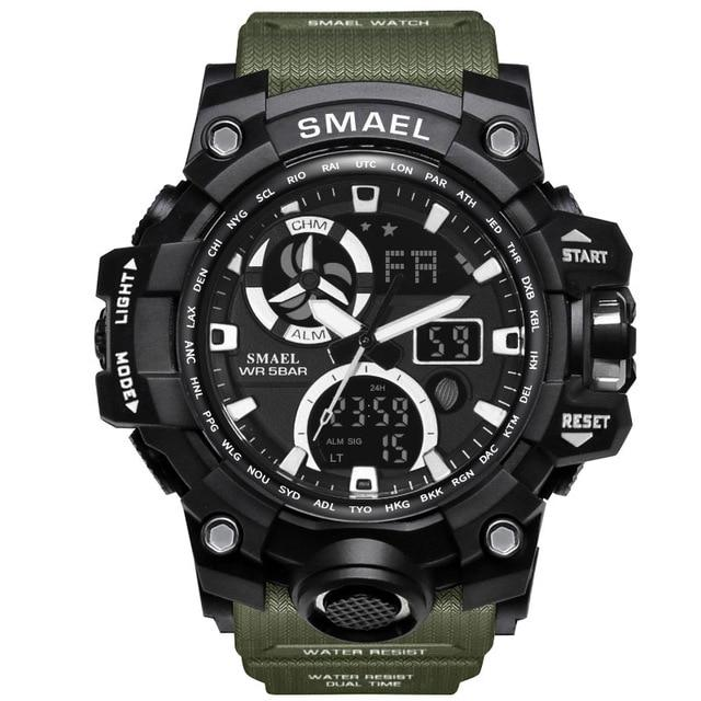 Dual Display Chronograph Sports Watch