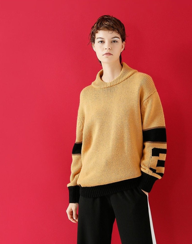 Knitted Long Sleeve Casual Pullover