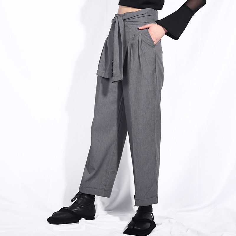 High Waist Personality Pants