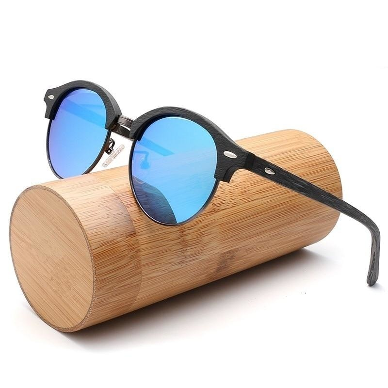Retro Wood Polarized Sunglasses