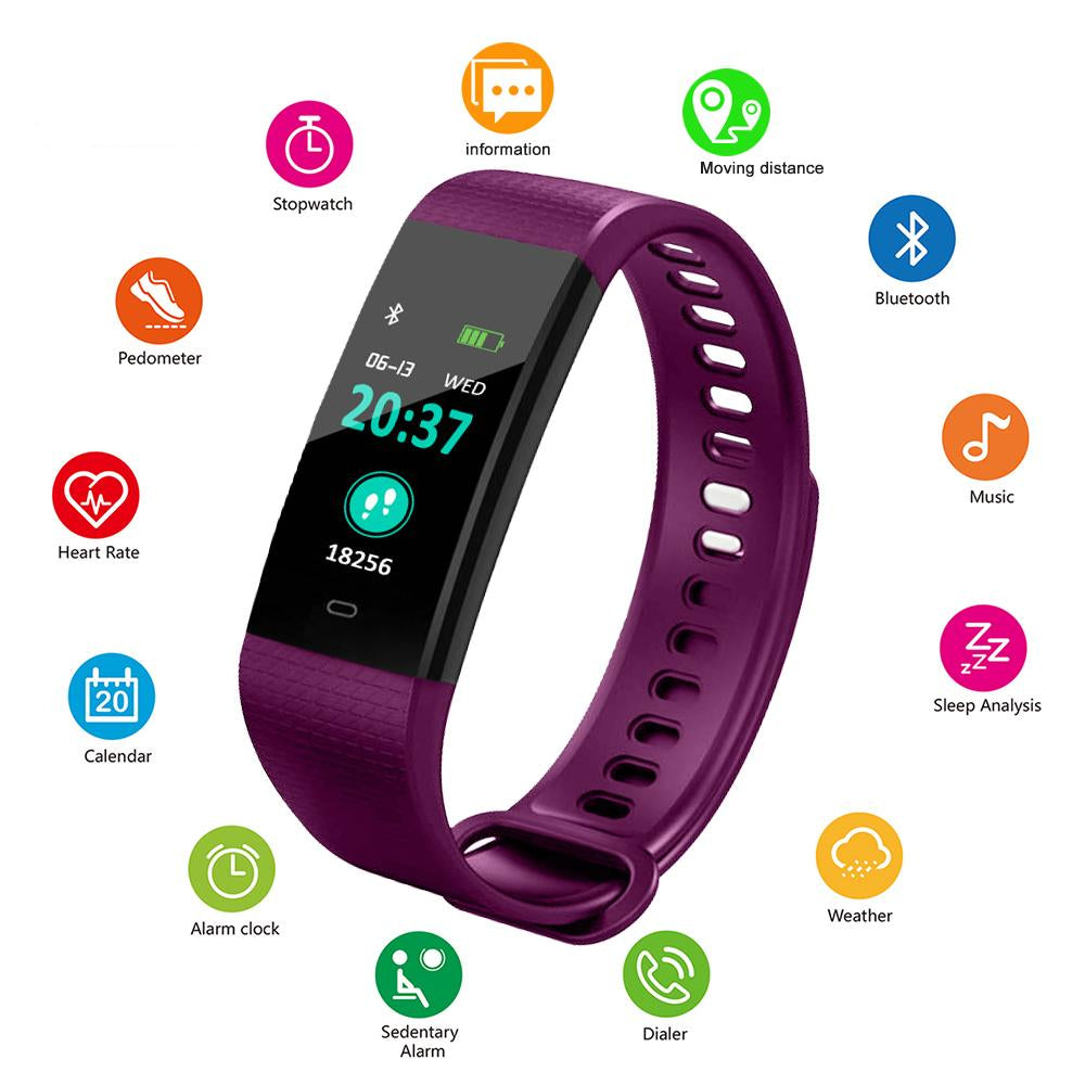 iOS/Android Heart Rate Monitor Smartwatch