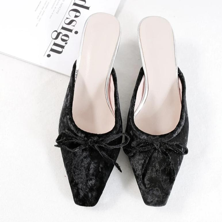 Elegant Small Square Heel Pumps