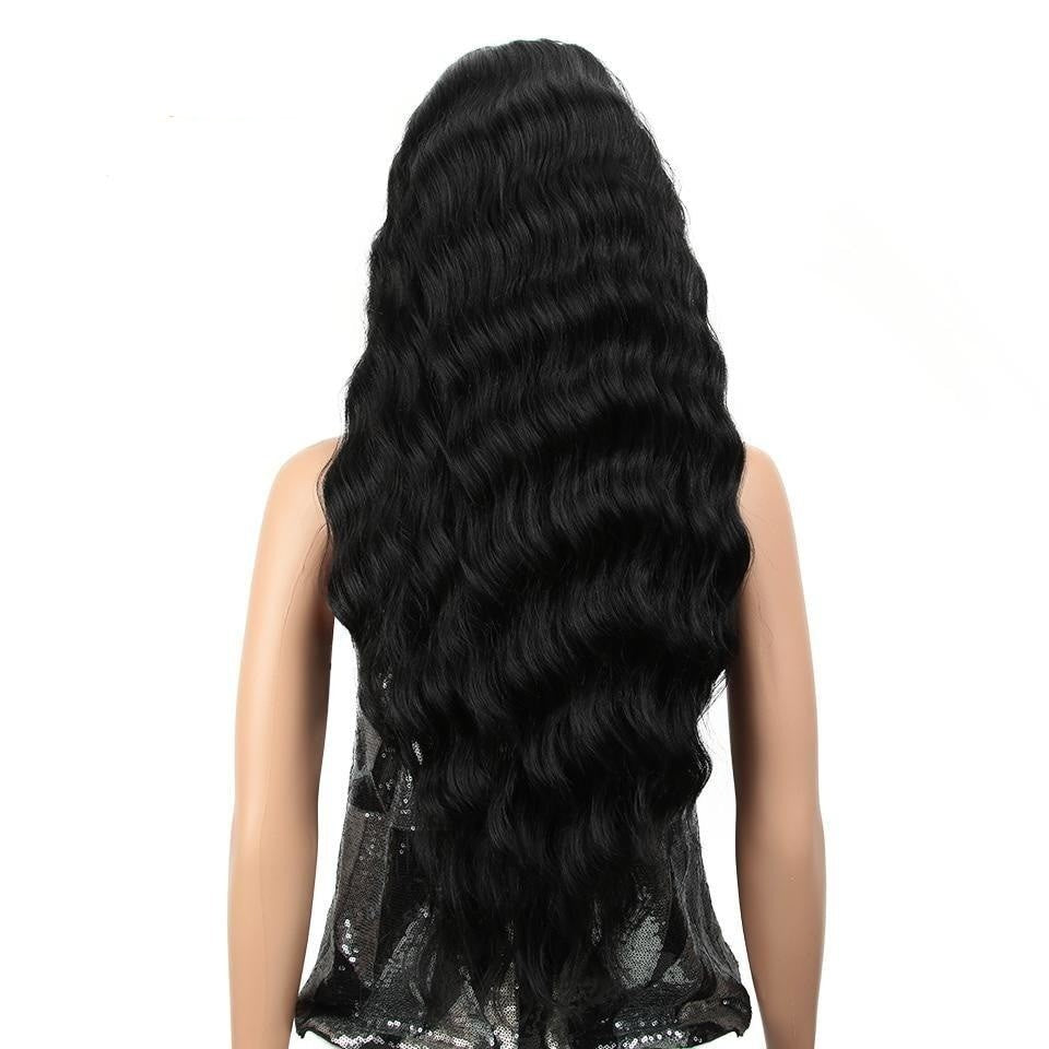 "28"" Deep Wavy Synthetic Lace Front Wig"
