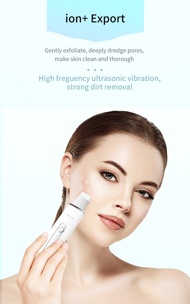 Ultrasonic Ion Cleansing Blackhead Scrubber