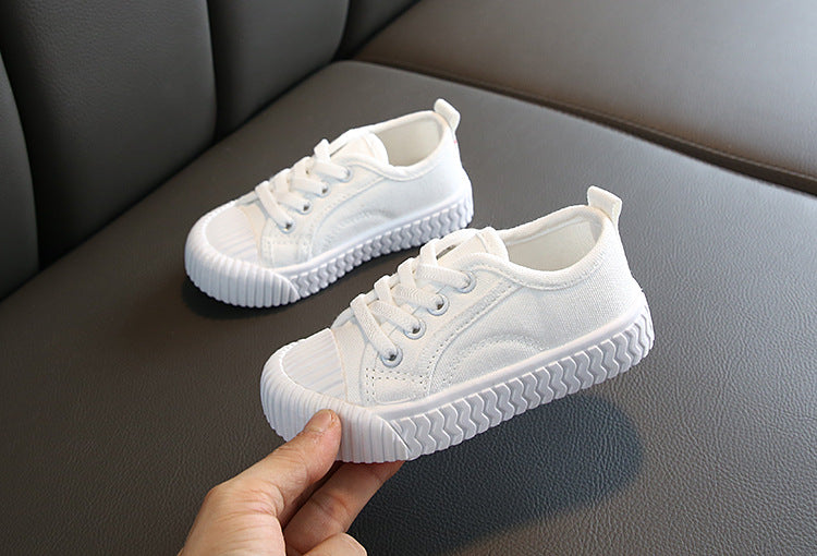 Kids Lace Up Canvas Sneakers