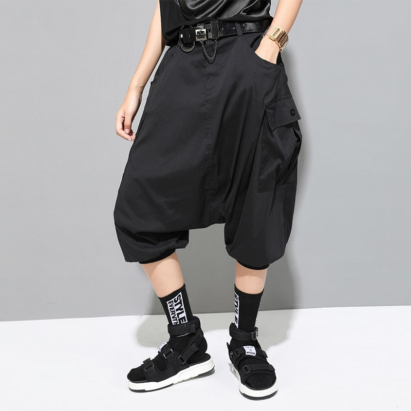 High Waist Split Joint Harem Pants