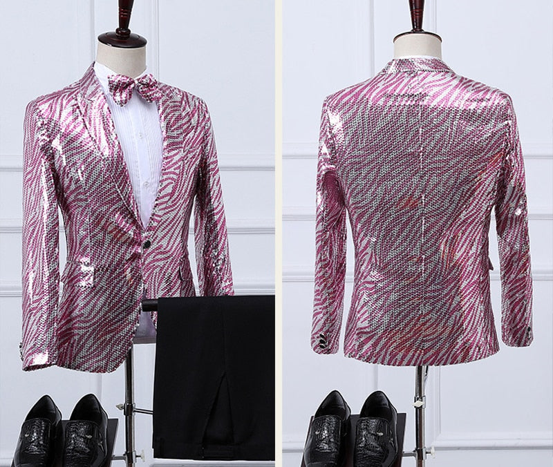 Glitter Sequin Embellished Party Suit