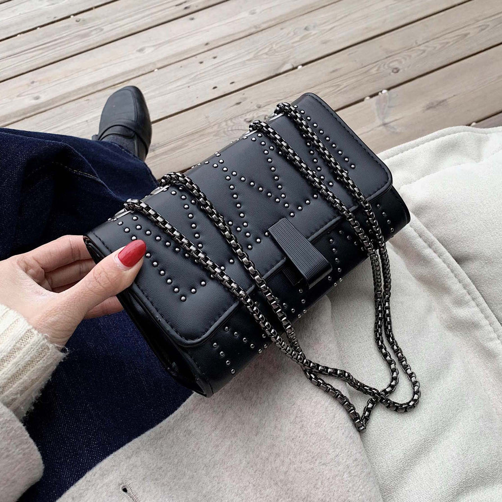 Rivets Design Mini Shoulder Messenger Bag
