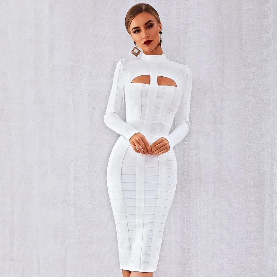 SJzq5QMZmEglSNqs96r%40 Chic Bodycon Bandage Long Sleeve Hollow Out Club Dress