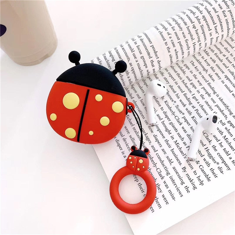 Funny Ladybug AirPods Silicone Protective Cover (Style)