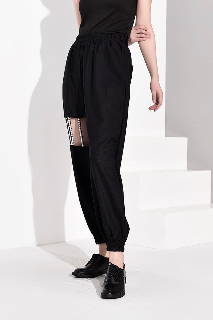 Stylish Hollow Out Wide Leg Pants