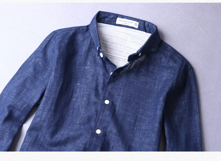 Cotton Linen Long Sleeve Casual Shirt