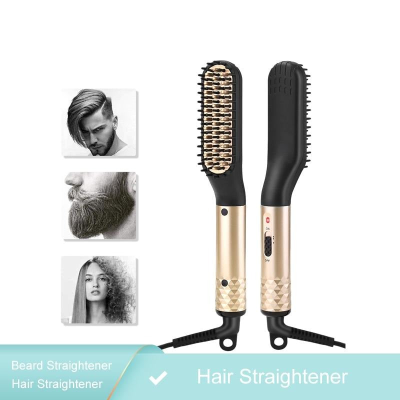 Ceramic Teeth Beard & Hair Straightener Comb