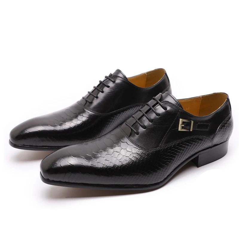 Genuine Leather Lace Up Shoes