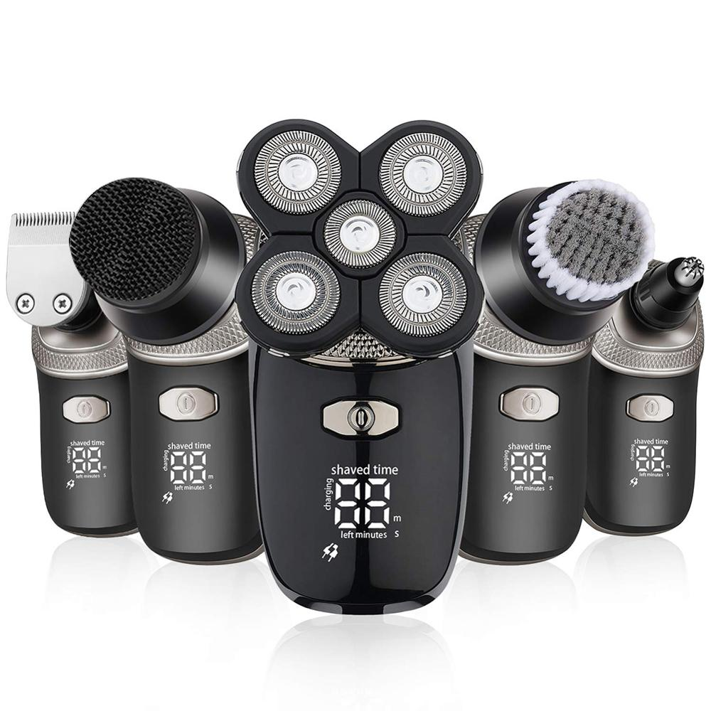 5 in 1 Rotary Rechargeable Electric Shaver