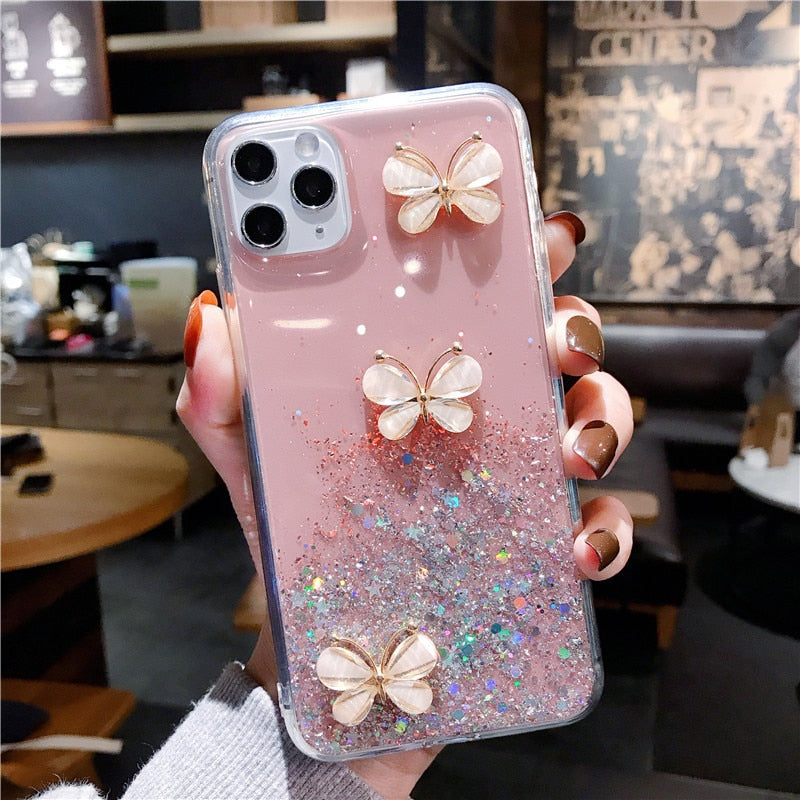 Huawei Phones Starry 3D Crystal Soft Silicone Case