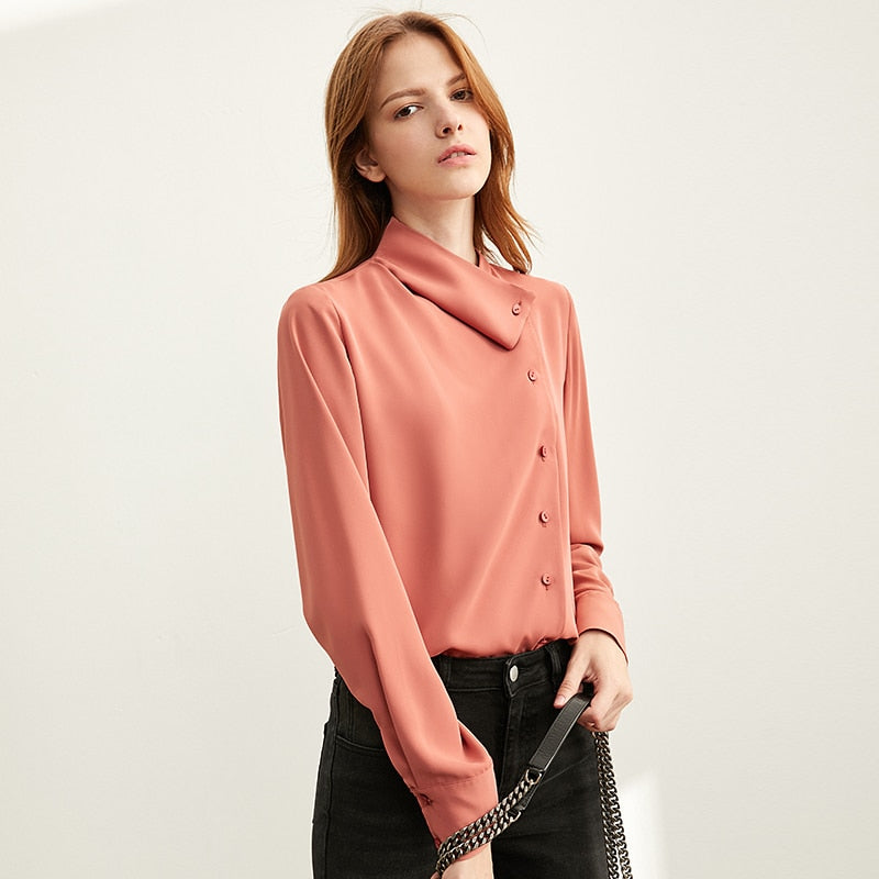 Asymmetric Folded Full Sleeves Shirt