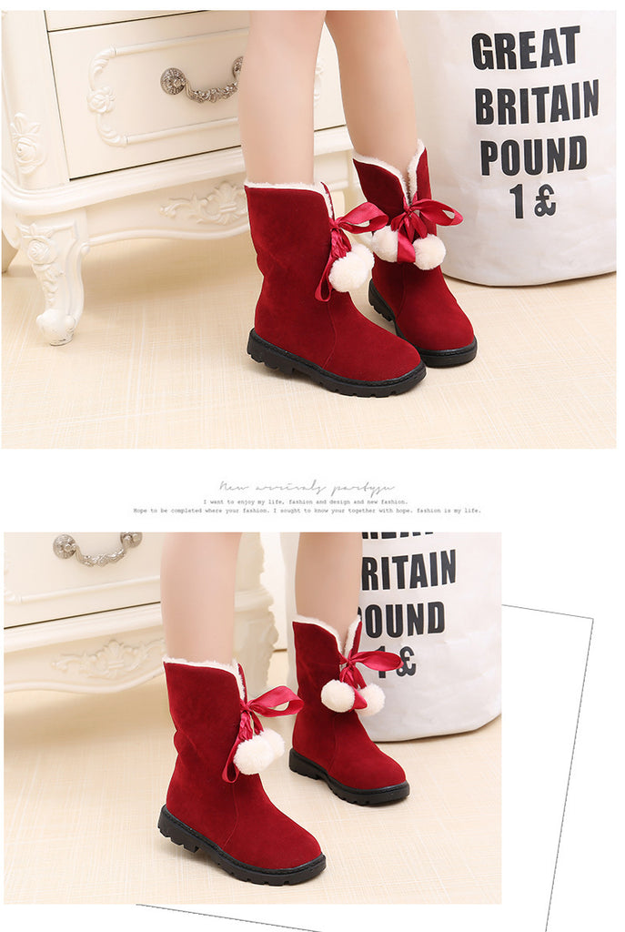 Warm Plush Lining Mid-calf Boots