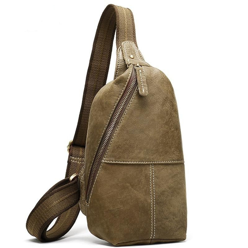 Genuine Leather Crossbody Chest Bag