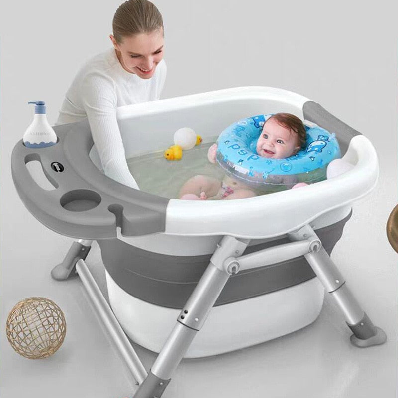 Kid's Folding Bathtub with Aluminum Alloy Stand