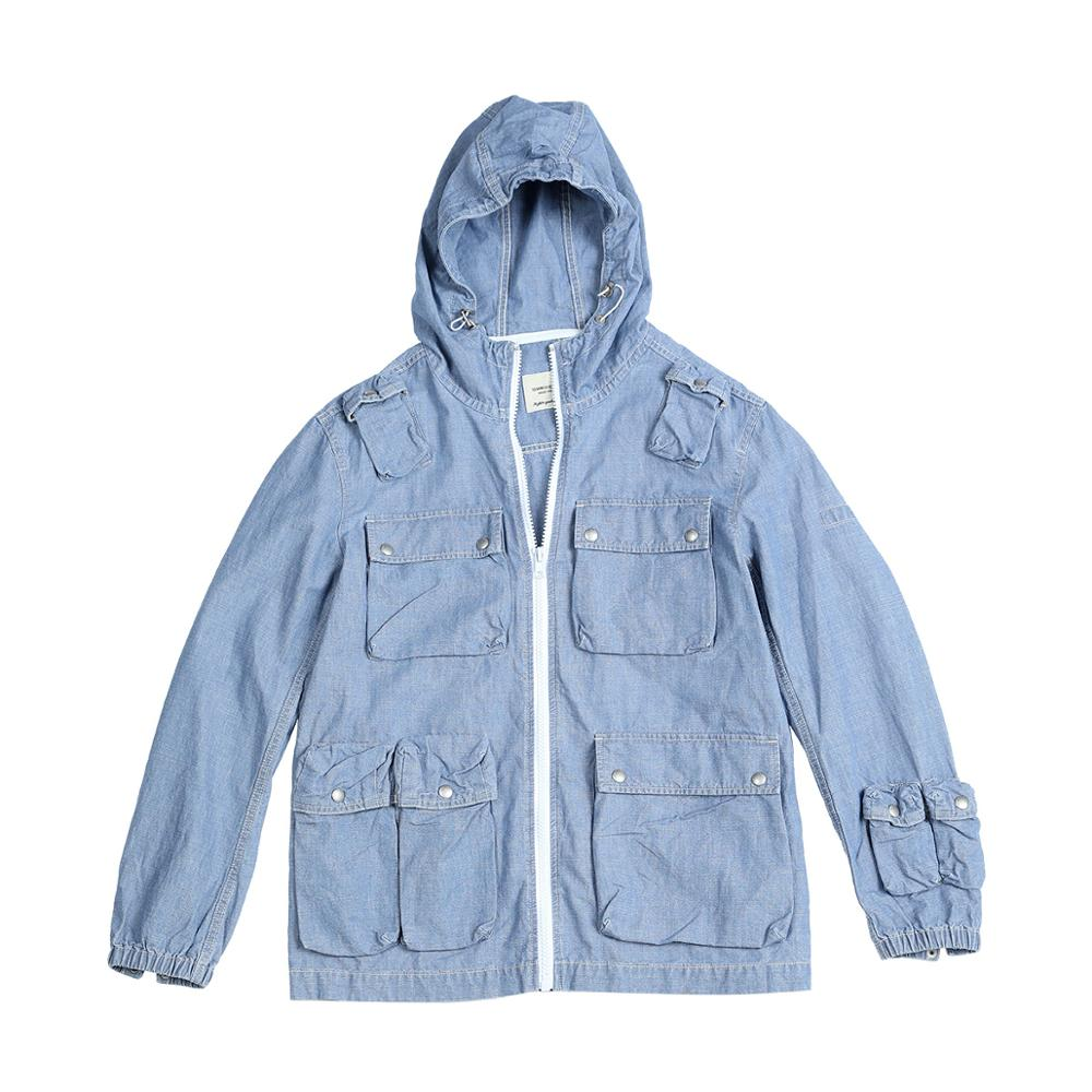 Trendy Cotton Linen Cargo Hooded Jacket