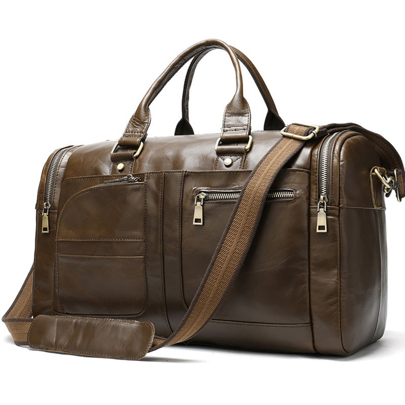 Genuine Leather Luggage Duffle/Travel Bag