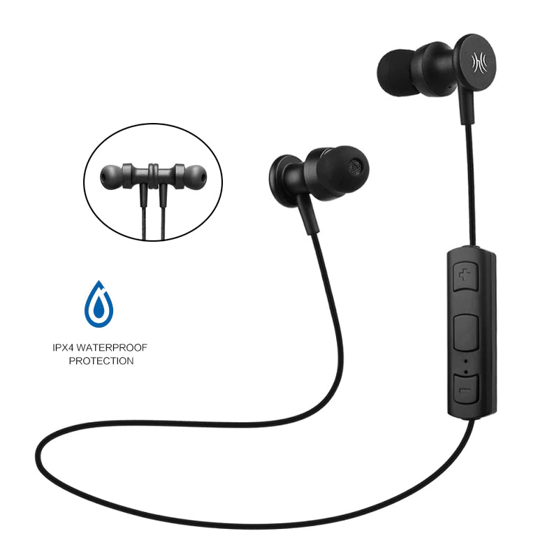 Waterproof 4.1 Bluetooth Earphones  (Black)